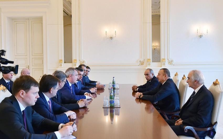 Prezident İlham Əliyev Rusiya baş nazirinin müavinini qəbul edib