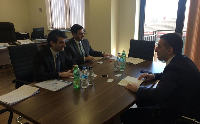"""Gürcüstanın iqtisadiyyat və dayanıqlı inkişaf nazirinin müavini """"Baku Business Factory""""nin nümayəndələri ilə görüşüb"""