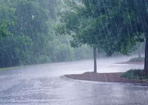 В Азербайджане ожидаются дожди, сильный ветер