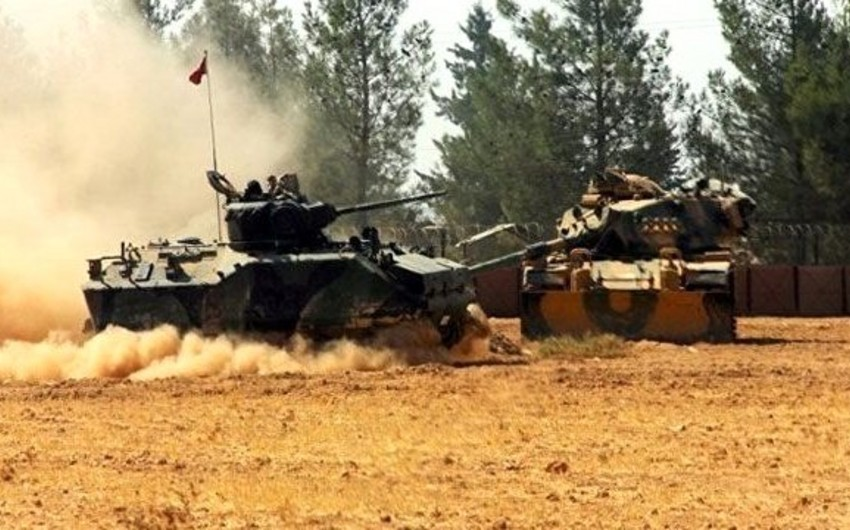 Suriyada Türkiyəyə məxsus tank vurulub, 1 əsgər ölüb, 3-ü yaralanıb