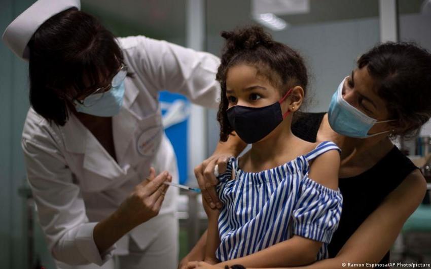 Kubada iki yaşdan 11 yaşa qədər uşaqlar peyvənd olunur