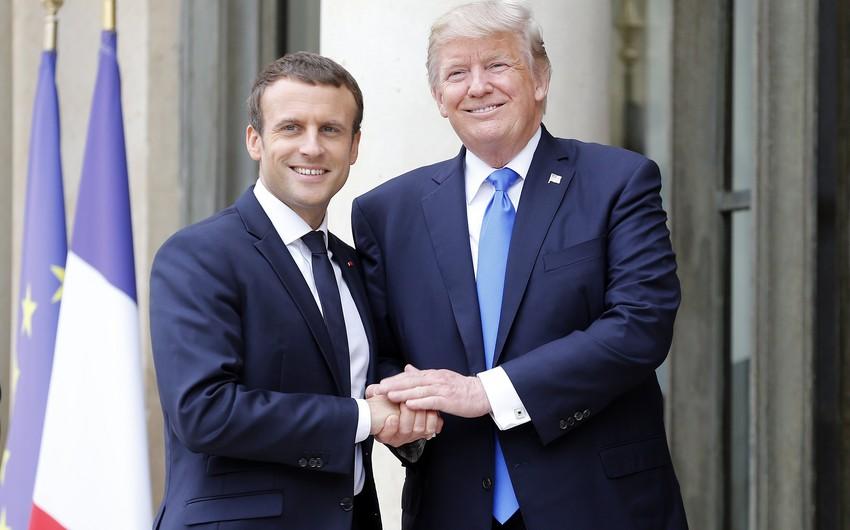 Fransa prezidenti ABŞ-a səfər edib