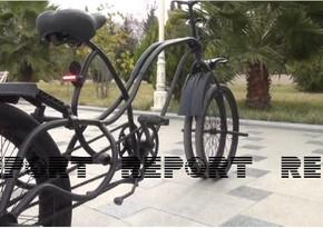 Salyanda tələbə qeyri-adi velosiped yaradıb