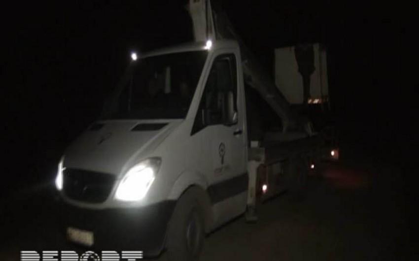 Goranboyun kəndlərində elektrik enerjisinin nəqli bərpa edilib - FOTO
