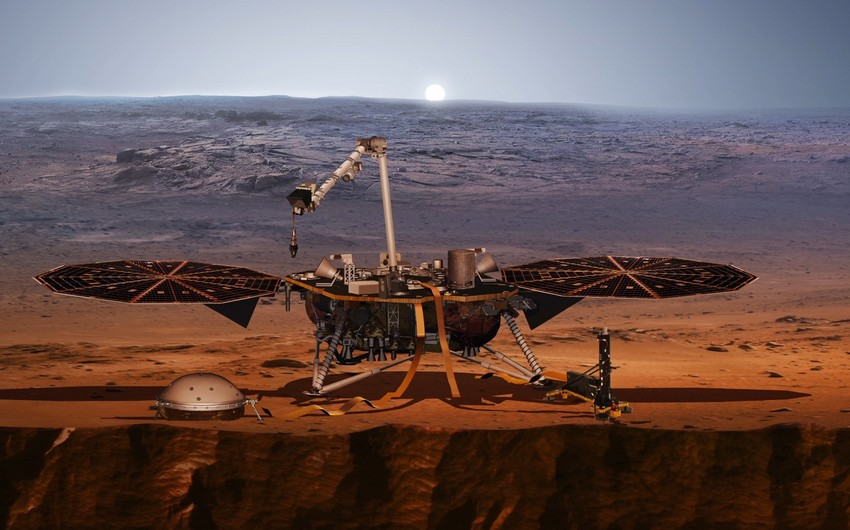NASA lands InSight on Mars, takes first photo  - PHOTO