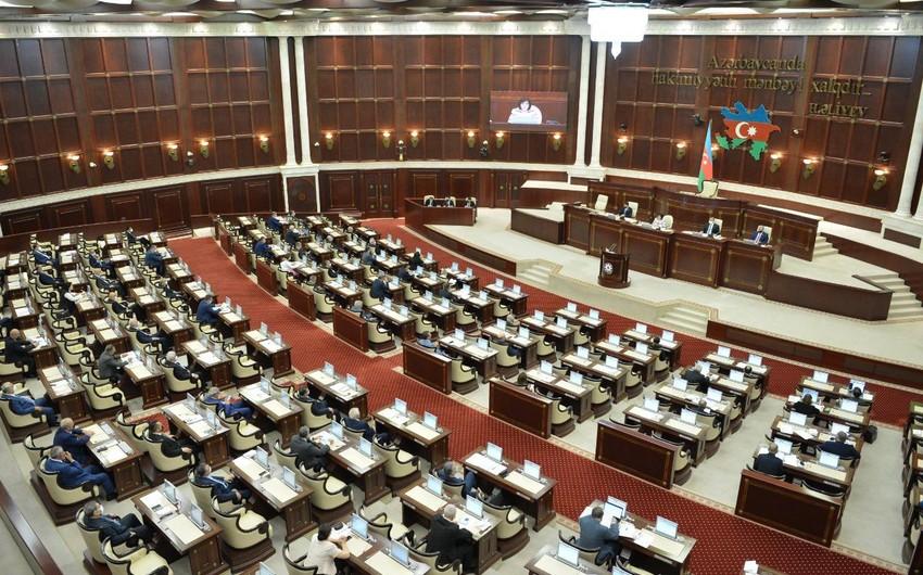 Milli Məclisin növbəti plenar iclasının gündəliyi açıqlanıb - SİYAHI