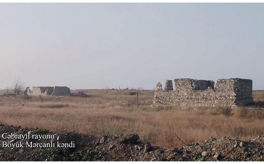 Footage of Boyuk Marjanli village of Jabrayil