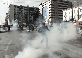 Афинская полиция применила слезоточивый газ для разгона митинга