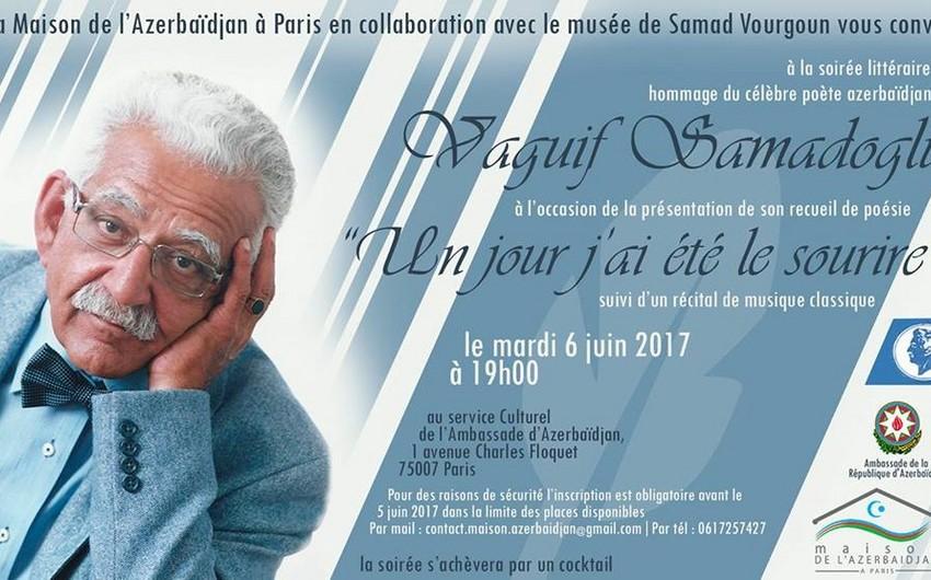 Poet Vagif Samadoglu will be commemorated in Paris