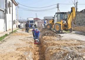 Abşeron rayonunun Aşağı Güzdək qəsəbəsinin su təchizatı yaxşılaşdırılır