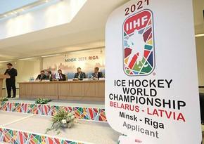 Belarus dünya çempionatından məhrum edildi