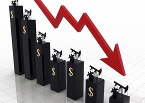 Azerbaijani oil drops to $45,62