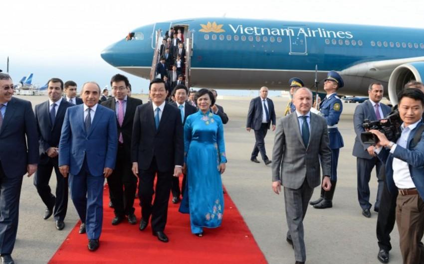 Vyetnam prezidenti Azərbaycana rəsmi səfərə gəlib