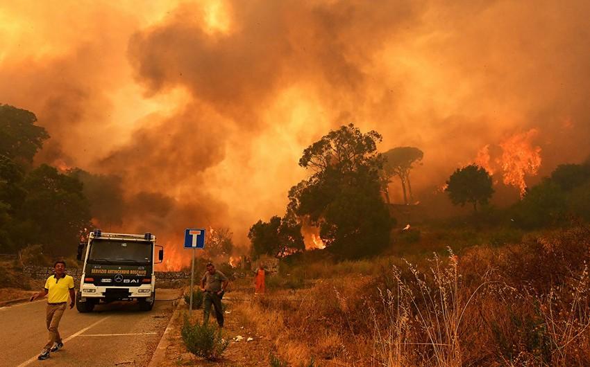 İtaliyada meşə yanğınlarına görə fövqəladə rejim elan edilib