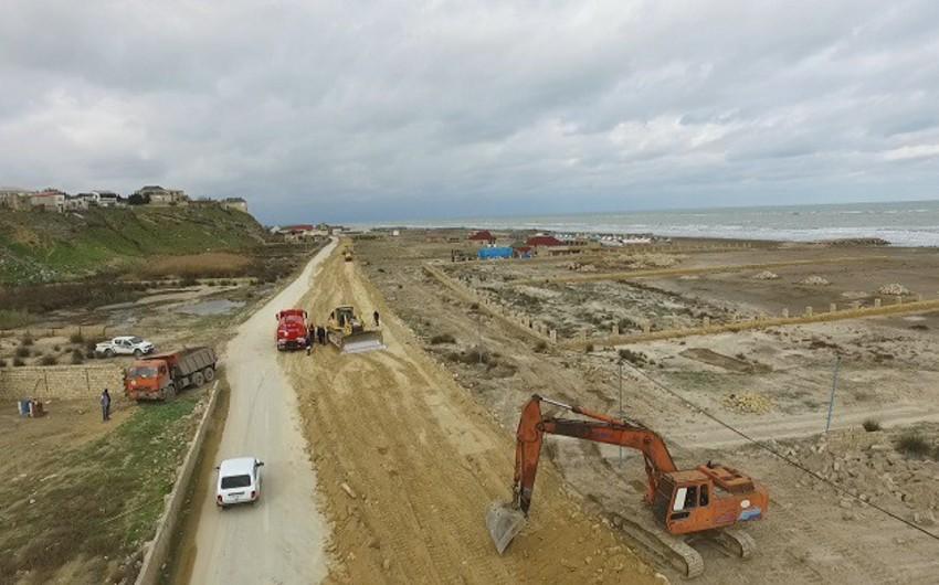 Abşeron yarımadasında sahil boyu yeni avtomobil yolu inşa olunur - VİDEO