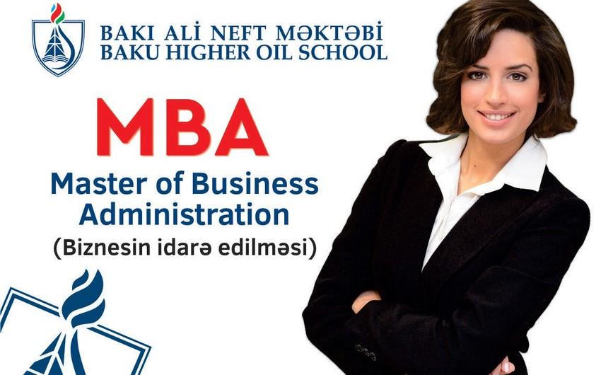 Bakı Ali Neft Məktəbində MBA proqramına qəbul davam edir