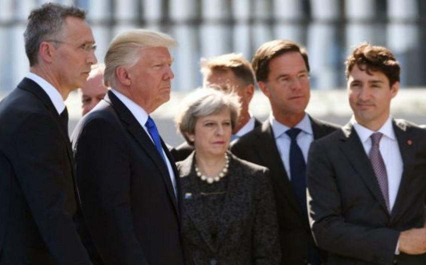 Donald Tramp G7 liderlərinin birgə fotoçəkilişinə gecikib