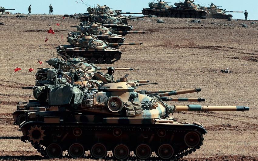 Türkiyə ordusu Suriyanın şimalında terrorçuların 71 obyektinə zərbə endirib