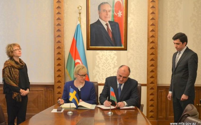 Azərbaycan və İsveç ikiqat vergitutmanın aradan qaldırılması haqqında saziş imzalayıb