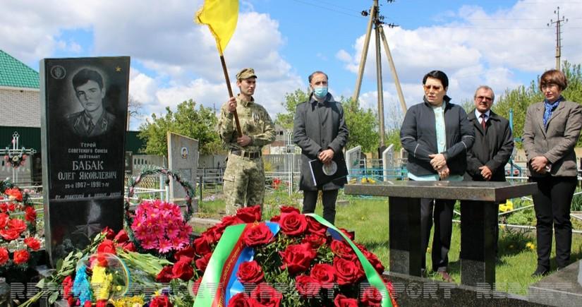 В Украине почтили память Олега Бабака, убитого армянами в Губадлы