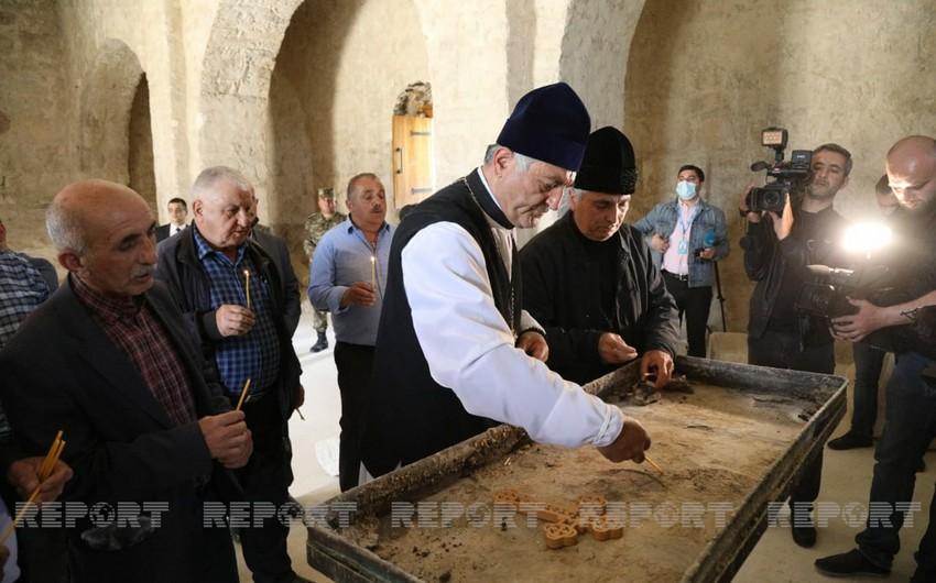 Члены Албано-удинской христианской религиозной общины посетили албанский храм в Туге