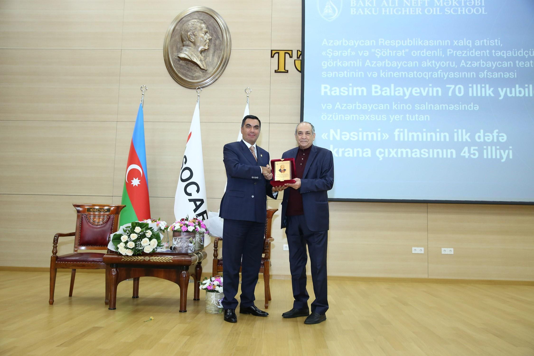 Baku Higher Oil School celebrates 70th anniversary of People's Artist Rasim Balayev