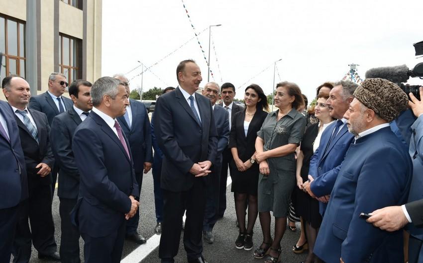 """Prezident İlham Əliyev: """"Nardaran sakinləri daim dövlətçiliyə sadiq olublar"""""""