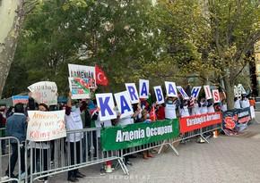 Азербайджан проводит акцию перед зданием ООН