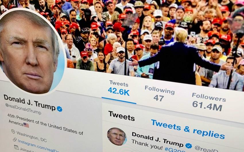 """""""Twitter"""" ABŞ prezidentinin çıxışını səhifədən silib"""