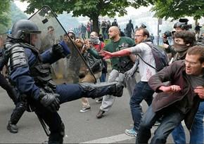 Fransada onlarla gənc küçələrdə qarışıqlıqlar törətdilər, saxlanılanlar var