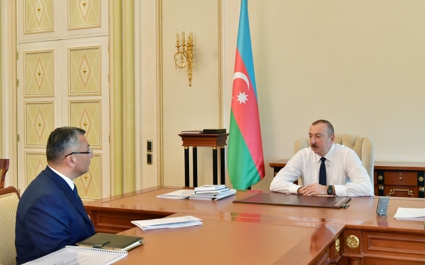 President Ilham Aliyev received chairman of State Committee for Refugee and IDP Affairs
