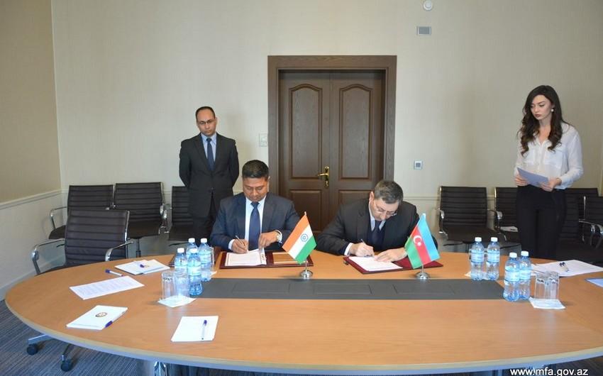 Azərbaycanla Hindistan arasında protokol imzalanıb