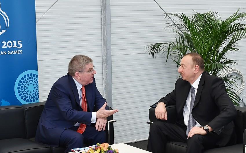Ilham Aliyev congratulates Thomas Bach