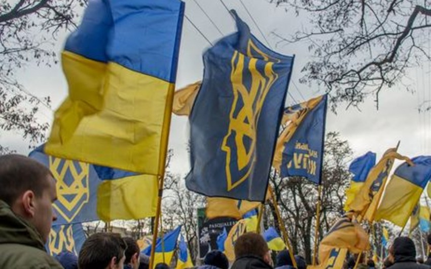 Protest action takes place in Ukrainian capital