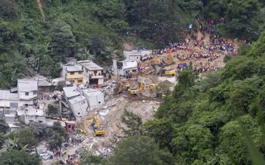 Qvatemalada sürüşmə nəticəsində ölənlərin sayı 237-yə çatıb