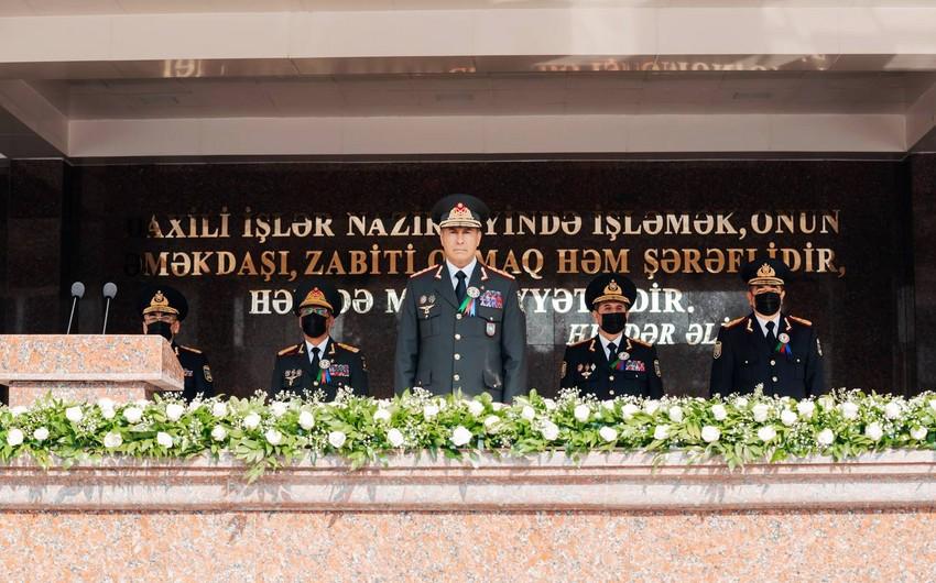 Polis Akademiyasında təntənəli mərasim keçirilib - VİDEO