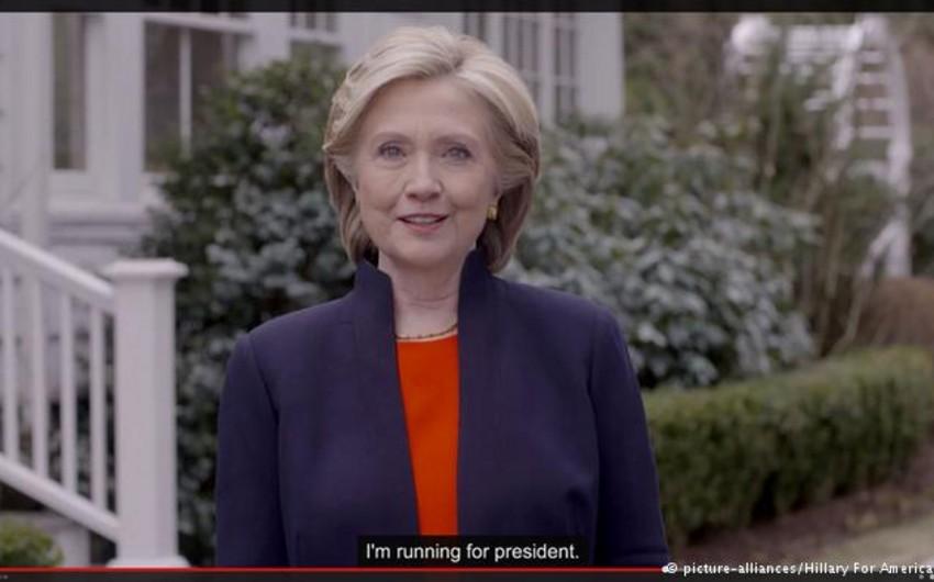 Klinton ABŞ prezidenti postuna namizədliyini irəli sürüb