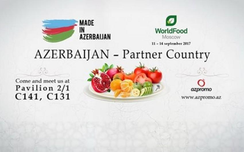 """Azərbaycan """"Worldfood Moscow"""" beynəlxalq ərzaq sərgisinin eksklüziv tərəfdaşıdır"""