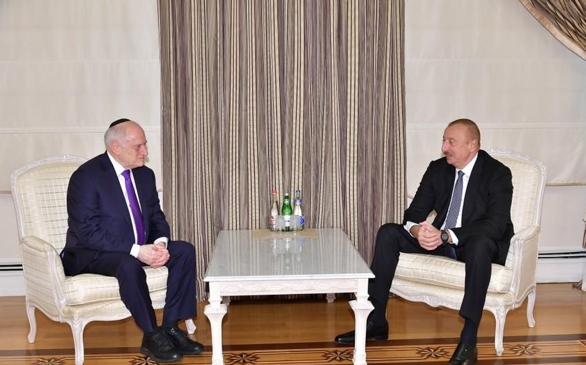 Ильхам Алиев принял заместителя исполнительного председателя Конференции президентов ведущих американских еврейских организаций - ОБНОВЛЕНО