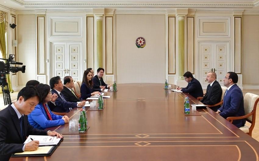 Президент Ильхам Алиев принял председателя Национальной ассамблеи Республики Корея - ОБНОВЛЕНО
