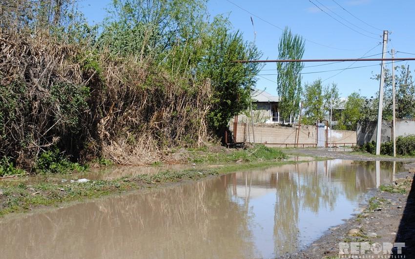 Kürdəmirdə güclü yağış fəsadlar törədib - FOTO