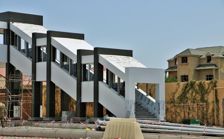 Müşviqabad qəsəbəsində 2 yerüstü piyada keçidinin inşası yekunlaşır