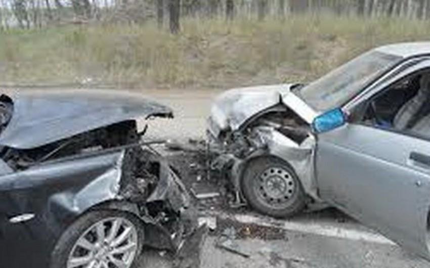 Цепная авария в Баку, ранены 4 человека