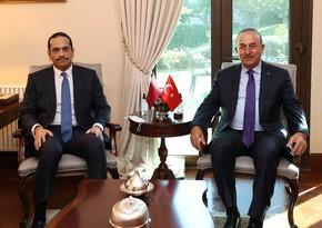 Mövlud Çavuşoğlu qətərli həmkarı ilə görüşüb