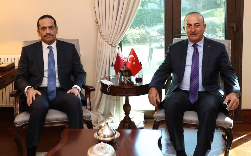 Turkish, Qatari foreign ministers hold meeting