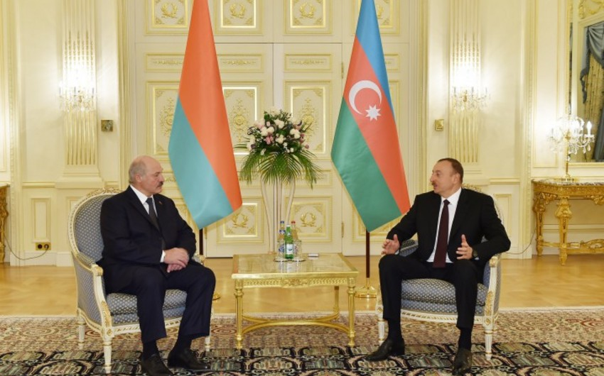 Azərbaycan və Belarus prezidentləri görüşüb