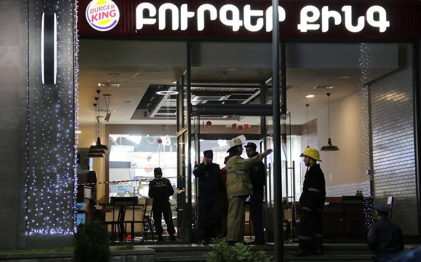 İrəvanın mərkəzində partlayış nəticəsində 7 nəfər yaralanıb