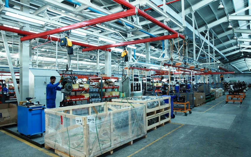 Paytaxtda sənaye istehsalı 1,2 % artıb