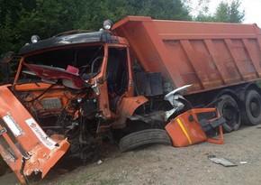 В Товузе перевернулся грузовик