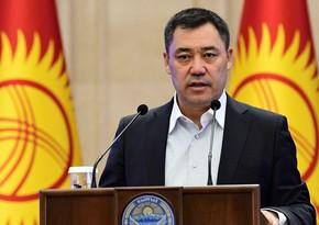 """Qırğızıstanın yeni prezidentinin andiçməsi """"Azerspace-1""""dən yayımlanıb"""